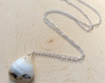 Sterling Agate Necklace