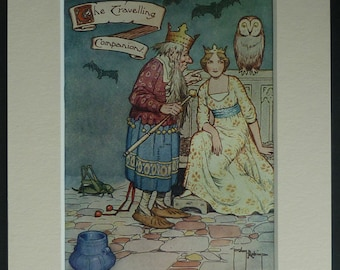 1911 Gordon Robinson Print of 'The Travelling Companion' by Hans Christian Andersen Antique fairy tale art, beautiful antique nursery decor