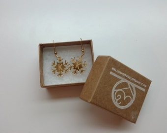 Personalized Snowflake and Christmas Tree Earrings