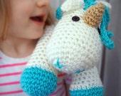 Toy Unicorn-Unicorn Plush-Stuffed Animal-Unicorn Stuffed Toy-Crochet Unicorn-Unicorn Theme-Princess Bedroom-Horse Decor-Stuffed Horse-