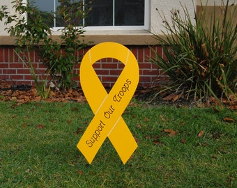 Military Yellow Ribbon Supporting Our Troops