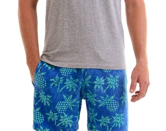 Mens Pineapple Walk Shorts, Mens Boardshorts, Volley Shorts, Mens Beach Shorts