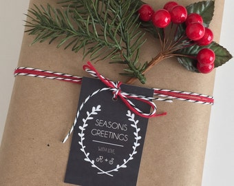 Christmas Tags Personalized gift tags chalkboard gift tags Holiday Gift wrapping Party favor gift labels chalkboard labels