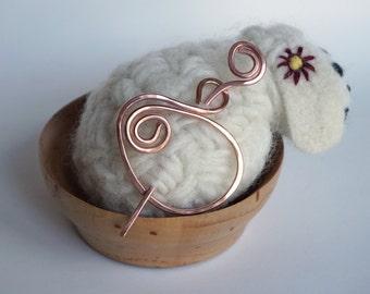 Copper Shawl Pin / Hair Pin / Broche