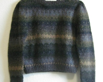 Gray Nordic Wool Sweater Perry Ellis Medium - with tags