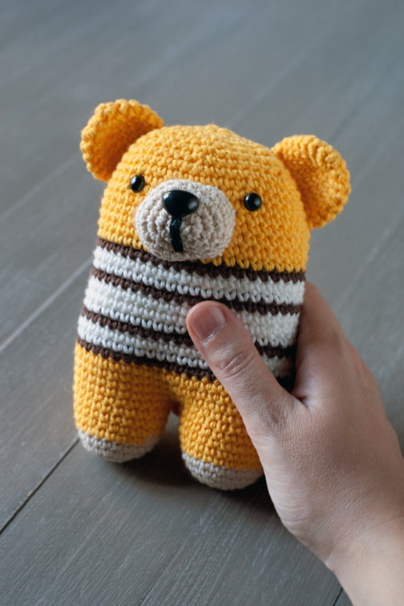 Amigurumi Baby Shower Bears : Donato bear amigurumi baby rattle