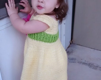 Yellow Baby Dress Baby Toddler Girl 12 Months
