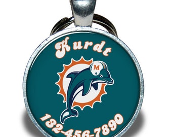 Pet ID Tag - Classic Miami Dolphins *Inspired*