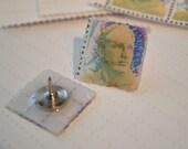 MTO6: Acid-Free LSD Blotter Paper Art | Ken Kesey Portrait Hat Pin