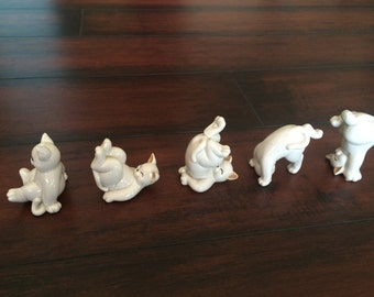 Fitz and Floyd Tumbling Kittens, Ceramic Cats, Collectable Cats, White Cats, Porcelaine Cats, Cat Set, Home Decor, Kids Room