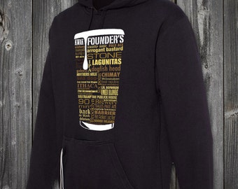 TAILGATE SWEATSHIRT - Craft Beer Typography. One of a kind