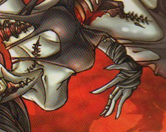 Bookmark - Zombie Bookmark - Comic Book Bookmark - Anime Bookmark - Black - Red - Undead - Rotting Flesh - Superhero Bookmark - Laminated