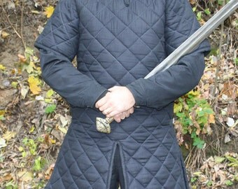 Gambeson, Medieval, Celtic, Viking, Armor, Padded Gambeson, Short Sleeves, buckles on the sides, 100cm