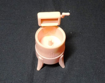 1940s or 1950s Doll House Pink Wringer Washer from Renewal Product No. 31, Made in USA