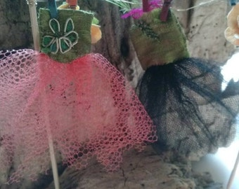 Fairy Garden Dress Miniature Tulle Handmade Fantasy Woodland