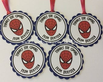 Spiderman Favor Tags - Set of 12