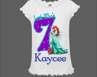 Little Mermaid Birthday Shirt - Little Mermaid Birthday Tank Top