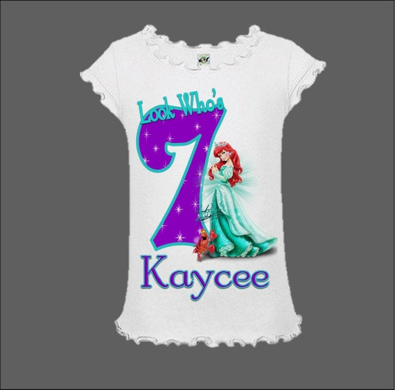 Little mermaid birthday shirt little mermaid birthday tank top