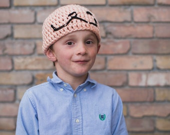 Crochet Pattern Charlie Brown Hat Pattern from the classic snoopy cartoon. Instant Digital Download CP212CBH