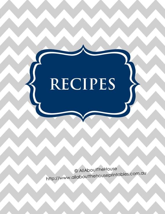 Editable Book Cover Template : Editable recipe binder printables sheet card