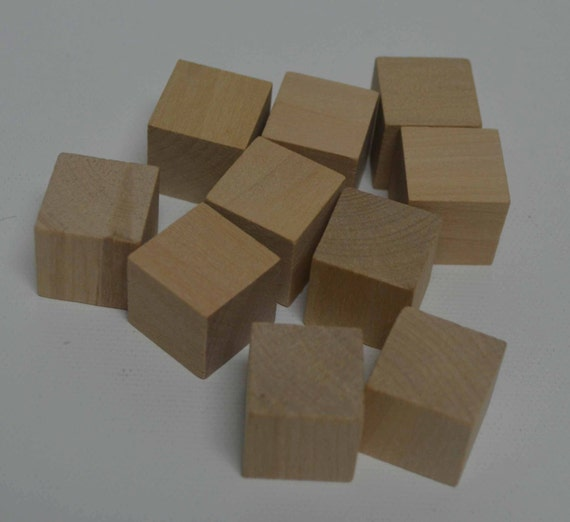 Solid wood blocks set of unfinished wooden