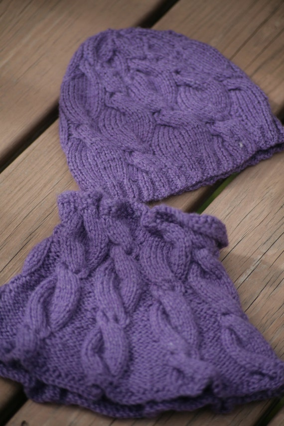 Knitted Cowl Pattern For Toddler : MY MUSE set cowl & hat knitting pattern baby toddler child