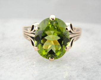 Rose Gold And Peridot Victorian Revival Era Ring 16C3V0-R