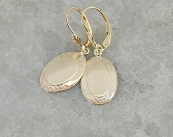 Tasteful Gold Earrings From Antique Elements, Lovely! N6W8QJ-P