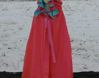 Adult Two Tone hooded cloak