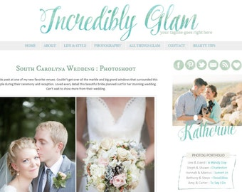 Premade Blogger Template - Incredibly Glam