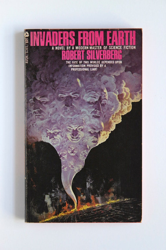 Book Cover Art Etsy : Items similar to invaders from earth by robert silverberg