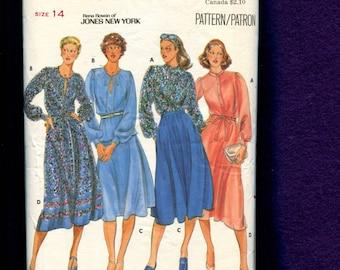 1970's Butterick 5665 Jones New York Easy Breezy Blouses & Skirts Size 14