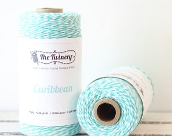 Teal Twine, Teal Bakers Twine, Craft Twine, Packaging Twine, Baby Shower, Card Making, Teal String, Cotton Twine, Twinery CaribbeanTwine
