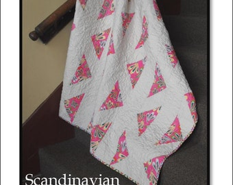 Downloadable pdf quilt pattern - Scandinavian Crossroads -modern quilt pattern - easy quilt pattern