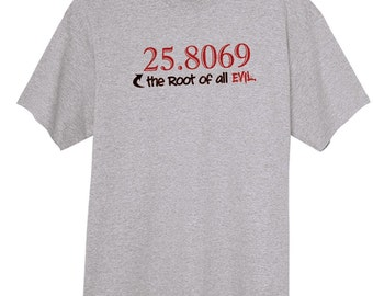 The Square Root of All Evil Funny Novelty T Shirt Z14283