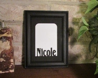 personalized school picture frame with name black 5x7