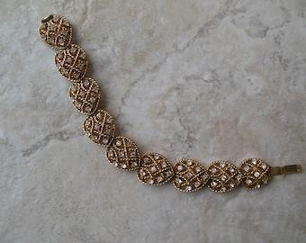 Coro Pegasus rhinestone link bracelet