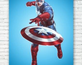 Captain America Art Print Poster