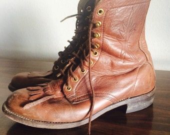 Vintage Womens Lace Up Boots
