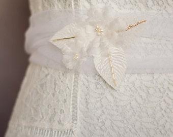 Bridal sash alba roses Louise romantic wedding fashion