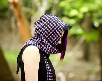 Purple Houndstooth Scoodie