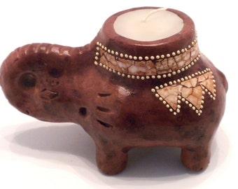 Terracota Elephant Candle