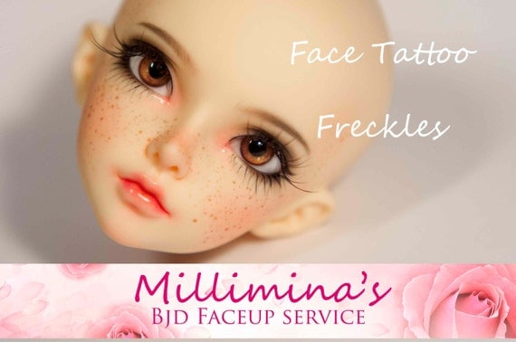 Freckles or face tattoo order millimina 39 s faceup by for Freckle tattoo cost