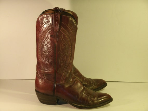 best handmade cowboy boots vintage lucchese boots cowboy western brown by 1951