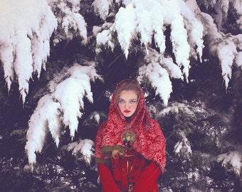 """Postcard photograph of art """"The Christmas of Olga"""""""