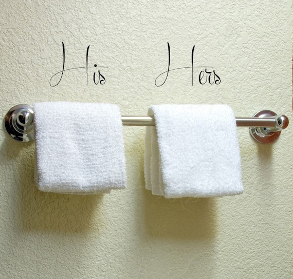 His hers vinyl wall decor bathroom decal by wallartshowcase for His hers bathroom decor