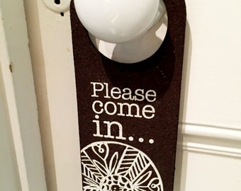Recycled Car Tyre - Do Not Disturb sign - screen printed, eco, limited edition