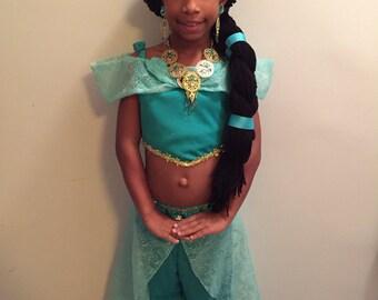 Jasmine wig hat with Braid!!