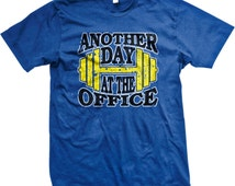 Another Day At The Office Men's Gym T-shirt, Personal Trainer Shirt, Workout Shirt, Motivational Trendy Men's Gym Tshirts GH_02011_tee