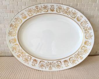 "Coalport Bone China Made in England - Allegro Pattern 14-7/8"" Serving Platter"